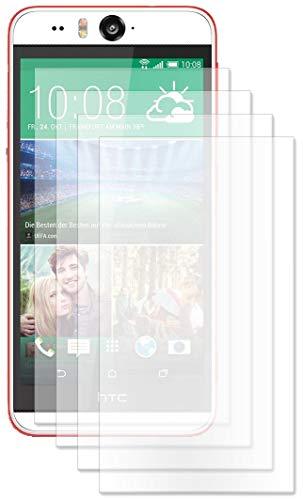 ENERGMiX Displayfolie kompatibel mit HTC Desire Eye Schutz Folie Folien (4 Stück) - Ultra Clear