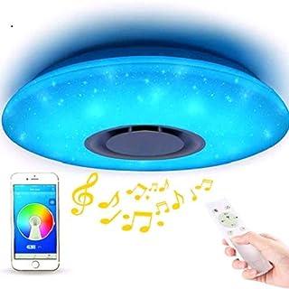 comprar comparacion ELINKUME Lámpara de Techo LED Regulable de Color Cambio de Starlight de 36 W con Control Remoto (Compatible con Amazon Alexa)