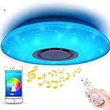 ELINKUME Lámpara de Techo LED Regulable de Color Cambio de Starlight de 36 W con Control Remoto (Compatible con Amazon Alexa)