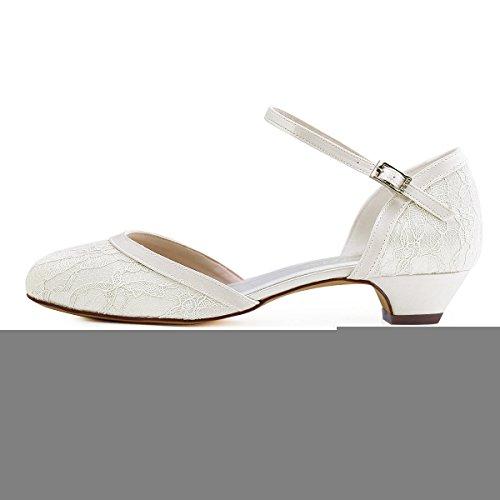 Elegantpark // Brautschuhe mit diesem niedrigen Absatz (Ivory oder Weiß) - 2