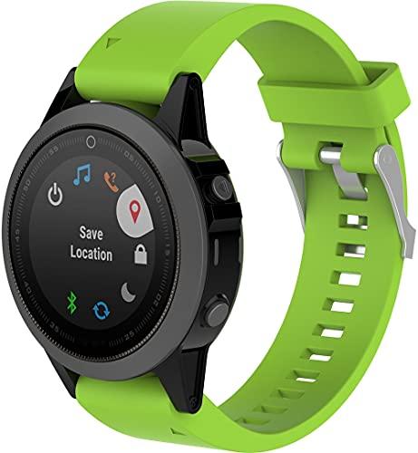 Gransho Correa de Reloj Recambios Correa Relojes Caucho Compatible con Garmin Fenix 6S Pro/Fenix 6S / Fenix 5S/5S Plus (42MM) - Silicona Correa Reloj con Hebilla (Pattern 9)
