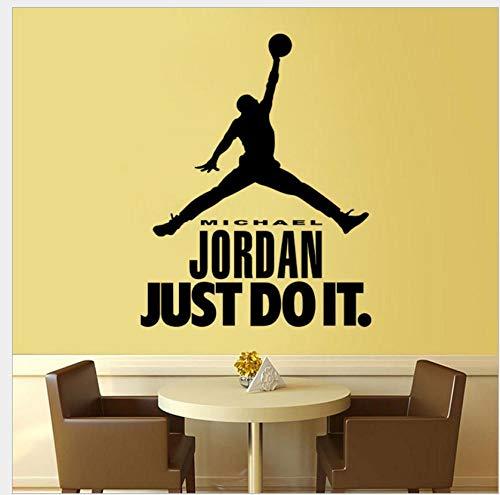 Etiqueta de la pared del dormitorio Etiqueta de la pared del personaje de baloncesto Etiqueta de la decoración del dormitorio del niño Etiqueta extraíble 57 * 80.5Cm