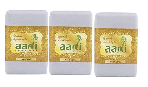 Aadi. Neem Scrub Luxury Handmade Bathing Bar with The Finest Ayurvedic Ingredients
