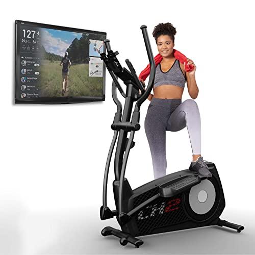 Sportstech CX2 Crosstrainer für Zuhause   mit Stromgenerator   Deutsches Qualitätsunternehmen   Interaktive Video-Events & Multiplayer-App   Ellipsentrainer, Ergometer + Konsole & 27 kg Schwungmasse