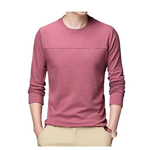 Camiseta de manga larga de felpa de doble cara para hombre de otoño