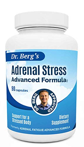 Adrenal Day Formula - Reduce Stress, Promote Calmness And Fight Fatigue - All Natural Vegetarian Supplements- 90 Capsules By Dr. Berg by Dr. Berg's Nutritionals
