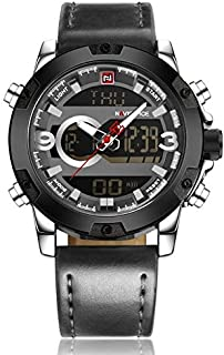 Naviforce 9097 S-GY-GY Analog-Digital For Men, Casual Watch
