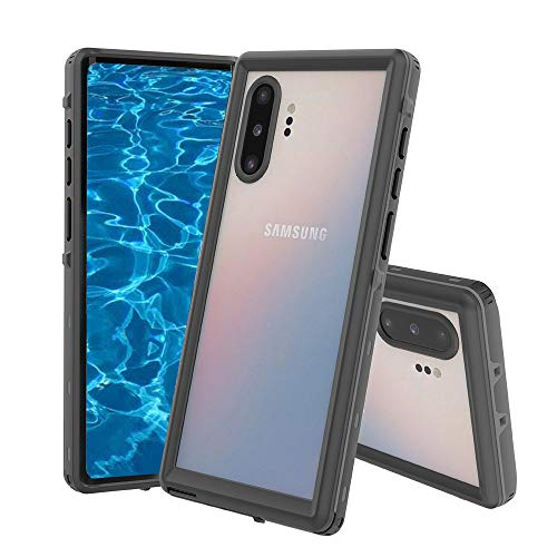 Galaxy Note10+ Plus/Pro/5G Waterproof Case,Built-in Screen Protector Full of 360°Degree Protection Waterproof Dirt-Proof Underwater Waterproof Case for Galaxy Note 10 Plus 5G(Black, Clear)