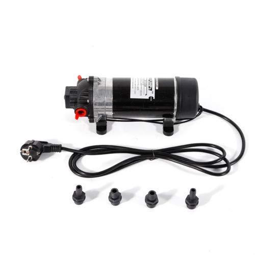 DiLiBee Membranwasserpumpe Selbstansaugende Membranpumpe Mini-Membran-Wasserpumpe 220V 160PSI 0.55A 5,1-5,5 l/min DE