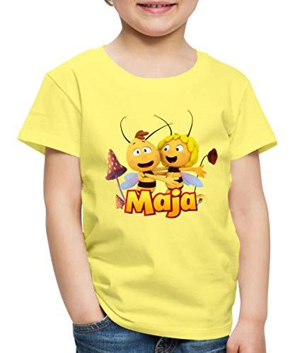 Spreadshirt Biene Maja Freundschaft Mit Willi Kinder Premium T-Shirt, 122-128, Gelb