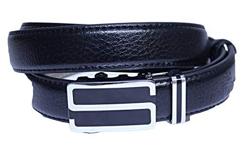 MONETTI FIA Ledergürtel schwarz- Damengürtel - echtes Leder - mit Automatikschnalle - Länge 115 cm - sehr leicht kürzbar - Breite 2,5 cm.