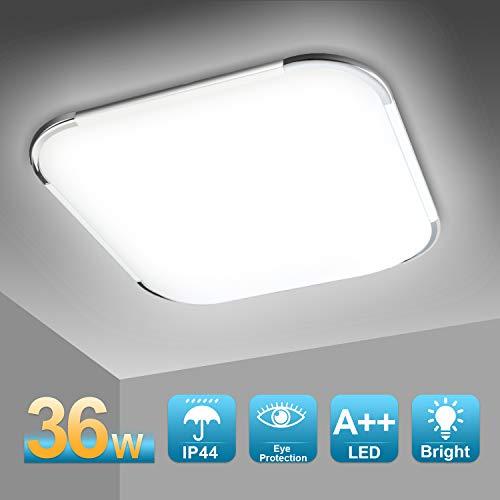 Hengda LED Deckenleuchte, Badezimmerleuchte, Innenleuchte, Balkonleuchte Schutzart IP44, für Küche, Flur, Wohnzimmer, Schlafzimmer, Wandlampe (36W Kaltweiße)