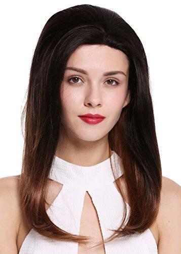 WIG ME UP ® - RGF-6082-LF-TT2/30 peluca de mujer lace front malla frontal aplicada a mano pelo largo liso castaño cobrizo ombré mix