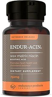 Endur-acin - 750mg Extended Release for Optimal Absorption & Low-Flush Niacin (Vitamin B-3), 200 Tablets - ...