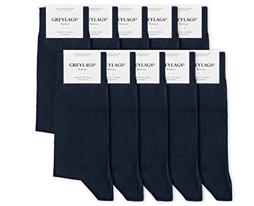 Greylags Premium 10er Pack Businesssocken Socken für Damen & Herren, Blau, Größe 47-50