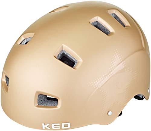 KED Risco Helm Gold Star Matte Kopfumfang M | 54-58cm 2020 Fahrradhelm