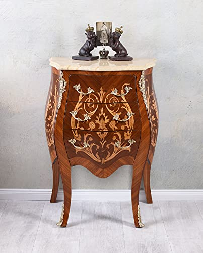 Barock byrå intarsia sängbord träbyrå antik tvättbyrå cat181 Palazzo exklusiv