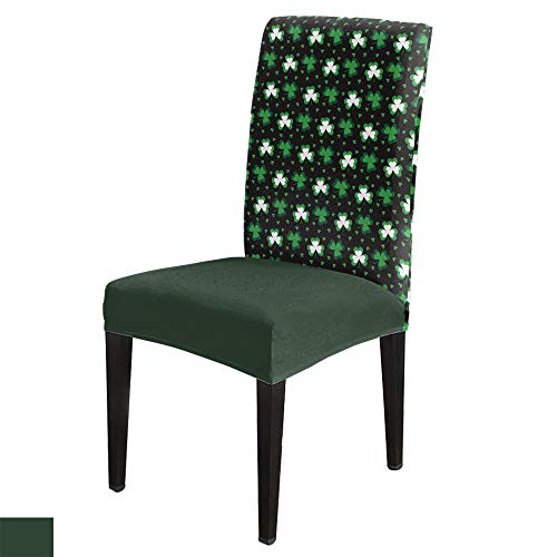 Dining Room Chair Covers Irish Festival Celtic Knots Shamrock, Washable Removable Stretch Slipcovers, St. Patrick's Day Seat Protector Cover for Hotel, Banquet, Wedding Party