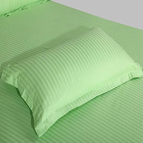 WJG Funda de almohada de algodón, juego de 2 piezas, 50 x 75 cm - blanco