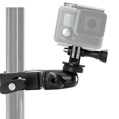 Fahrrad Halterung für GoPro, woleyi Kamerahalterung Lenker Klammer für Fahrrad Motorrad, Aluminium Kamera Halter für GoPro Hero 2018 Fusion 7 6 5 4 Session 3+ 3 Samsung SJ7000 SJ5000 und Andere Camera