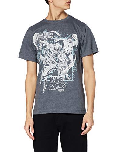 Marvel Band of Heros T-Shirt, Dunkelgrau, M Uomo