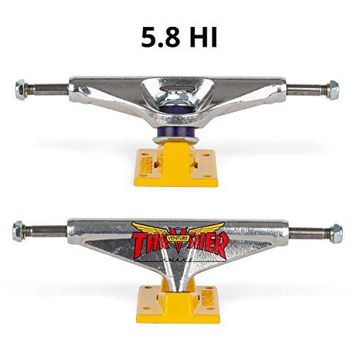 Venture 2 Stück 5.8 Hi x Thrasher Team Edition Skateboard Achsen Silver/Yellow - Boardbreite 8.25 bis 8.875