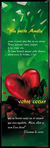 1art1 Il Favoloso Mondo di Amélie Stampa d'Arte e Cornice (Plastica) - Cuore (158 x 53cm)