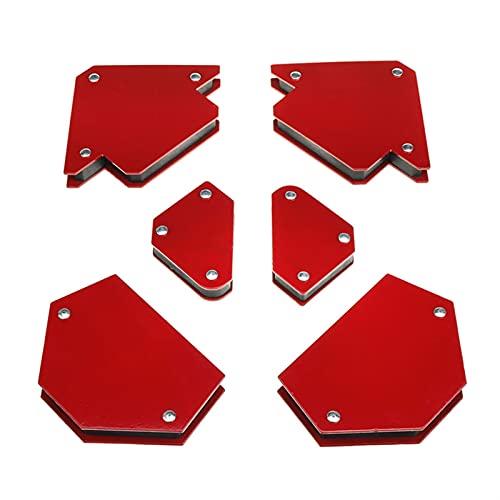 LJZX Posizionatore di Saldatura 6pcs Triangolo Saldatura del Triangolo Accessori per Saldatura ad Angolo Fisso Angolo Fisso Senza Interruttore Resistente Forte Superficie di Assorbimento Magnetico