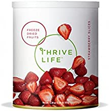 Thrive Life: Freeze-Dried Strawberries - Pantry Can Size. (Net Wt. 2.25 oz (0.14lb) 64g)