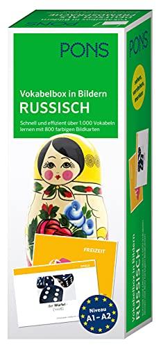 PONS Vokabelbox in Bildern Russisch: Schnell und effizient über 1.000 Vokabeln lernen mit 800 farbigen Bildkarten