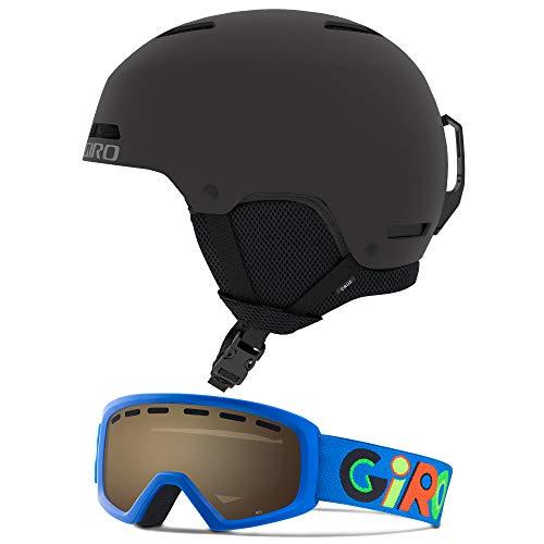 Giro Crue Kids Snow Helmet Goggle Combo Matte Black/Wild Boyz