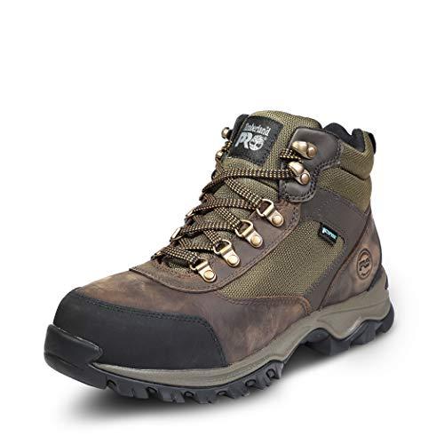 Timberland PRO Men's Keele Ridge Steel Toe Waterproof Industrial Boot, brown, 12 Wide