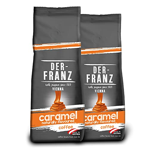 DER-FRANZ Kaffee, mit natürlichem Karamell aromatisiert, gemahlen, 500g (2er-Pack)