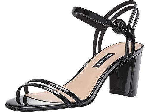 NINE WEST Piper Heeled Sandal Black 2 10.5 M