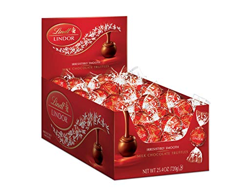 Lindt LINDOR Milk Chocolate Truffles, 25.4 oz, 60 Count by Lindt