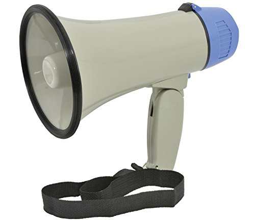Ex-Pro® Handy Loud compact megaphone with built-in siren and adjustable...