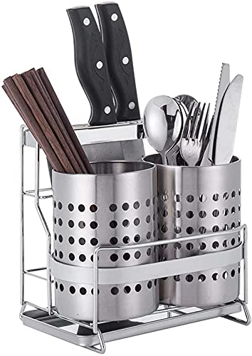 SYNAAN Stainless steel kitchen utensils drying rack Multifunctional cutlery drainer Cutlery storage rack