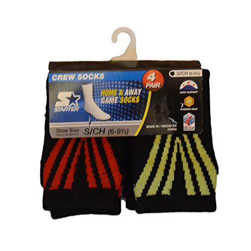 Starter Crew Socks 4 Pair Package Toddler Boy's Small Shoe Size 6 - 9 1/2