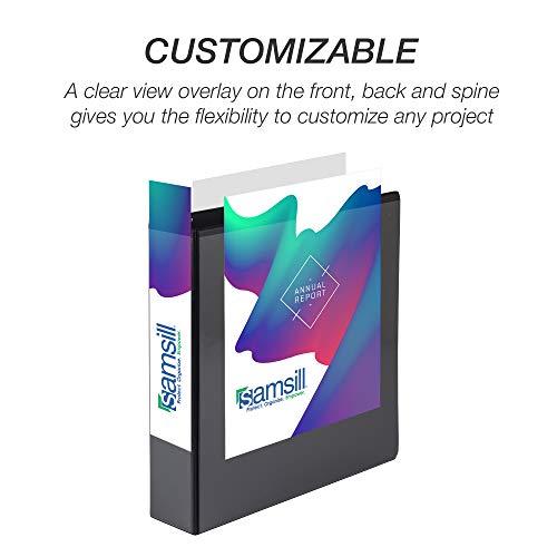 Samsill Economy 3 Ring Binder Organizer, 1.5 Inch Round Ring Binder, Customizable Clear View Cover, Black Bulk Binder 12 Pack (MP128550) Photo #2
