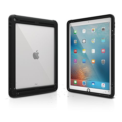 iPad Pro 12.9' Waterproof Case Shockproof by Catalyst, High Touch Sensitivity ID, Multi Position Stand, Military Grade Premium Quality Material, (iPad Pro 2015 Case), Stealth Black