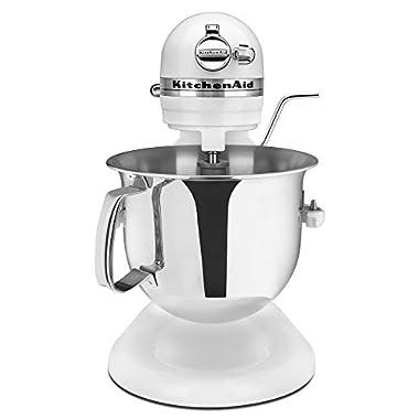 KitchenAid Certified Refurbished RKSM6573WH 6-Qt. Professional Bowl-Lift Stand Mixer - White