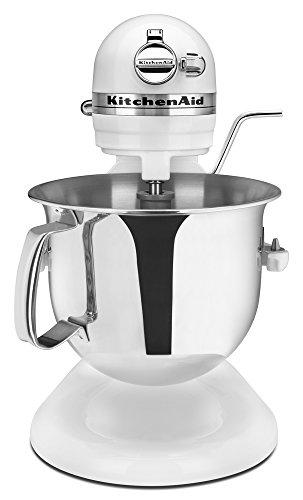 KitchenAid RKSM6573WH 6-Qt. Professional Bowl-Lift Stand Mixer - White (Renewed)