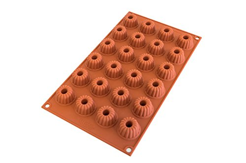 Silikomart Classic Silicon Mould Bundt Pans, Terracotta