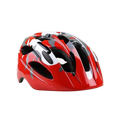 TONGDAUR Kinderen fietshelm verstelbare hoofdband 46cm-59cm for Leeftijd 7-15 jaar oud Skateboard Scooter Protective Gear (Color : Red, Size : Free)