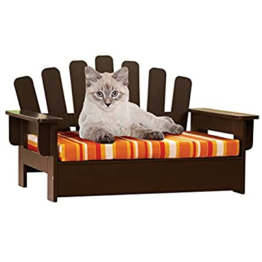 Etna Products Wooden Adirondack Pet Chair, standard, size is 22 L x 14 1/4 W x 13 H.