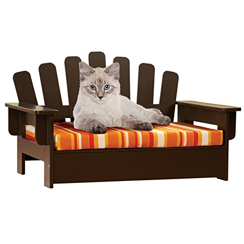 Etna Products Wooden Adirondack Pet Chair, standard, size is 22'L x 14 1/4'W x 13'H.