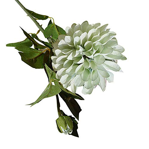 Flores artificiales, 1 pieza de flores artificiales de dalia para el hogar, jardín, escenario de boda, fiesta…