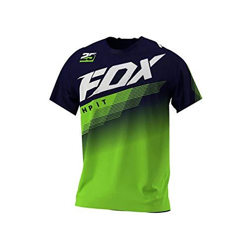 Yutich Jersey DH Jersey deMotocross Off Road Mountain Bike Cuesta Abajo Jersey MX BMX Jersey de Ciclismo hpit Fox Jersey fxr MTB racing-3XL