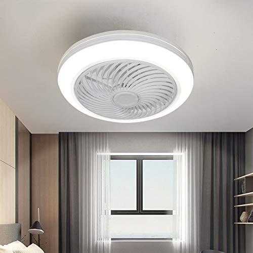 Ventilador de techo con iluminación LED, intensidad regulable, luz y mando a distancia + aplicación móvil