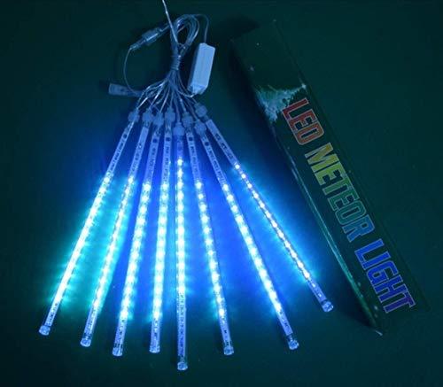 Volar Decorativo al aire libre luces de cadena 30cm cubierta 8 Tubos Lluvia de meteoros de lluvia luces gota / carámbano caída de la gota de agua a prueba de agua for la boda luces del árbol de Navida